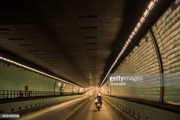 Underwater tunnel - Subfluvial Tunnel -  Parana river, Argentina.