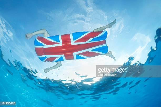 Underwater view of man in pool
