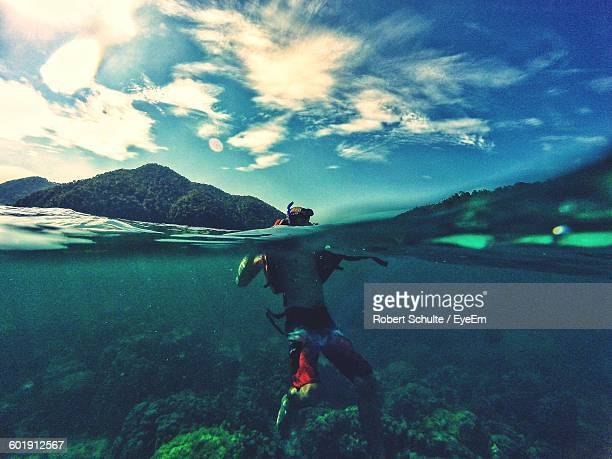 Underwater View Of Person