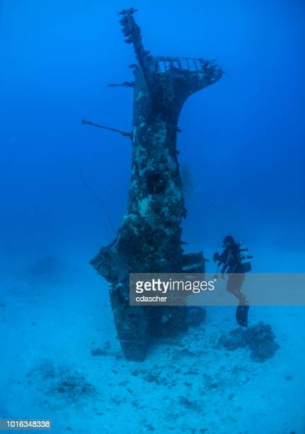 Underwater World War II aircraft