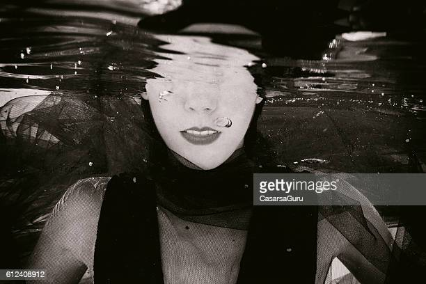 Underwater Young Woman Portrait