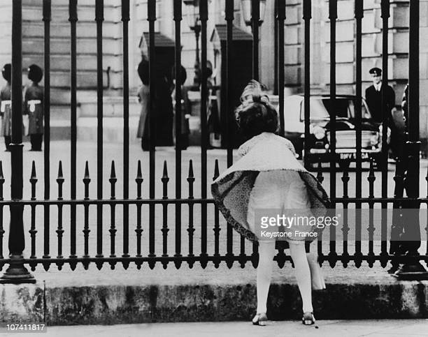 Underwear Of A Young Woman Watching The Changing Of The Guard At Buckingham Palace On February 5Th 1967