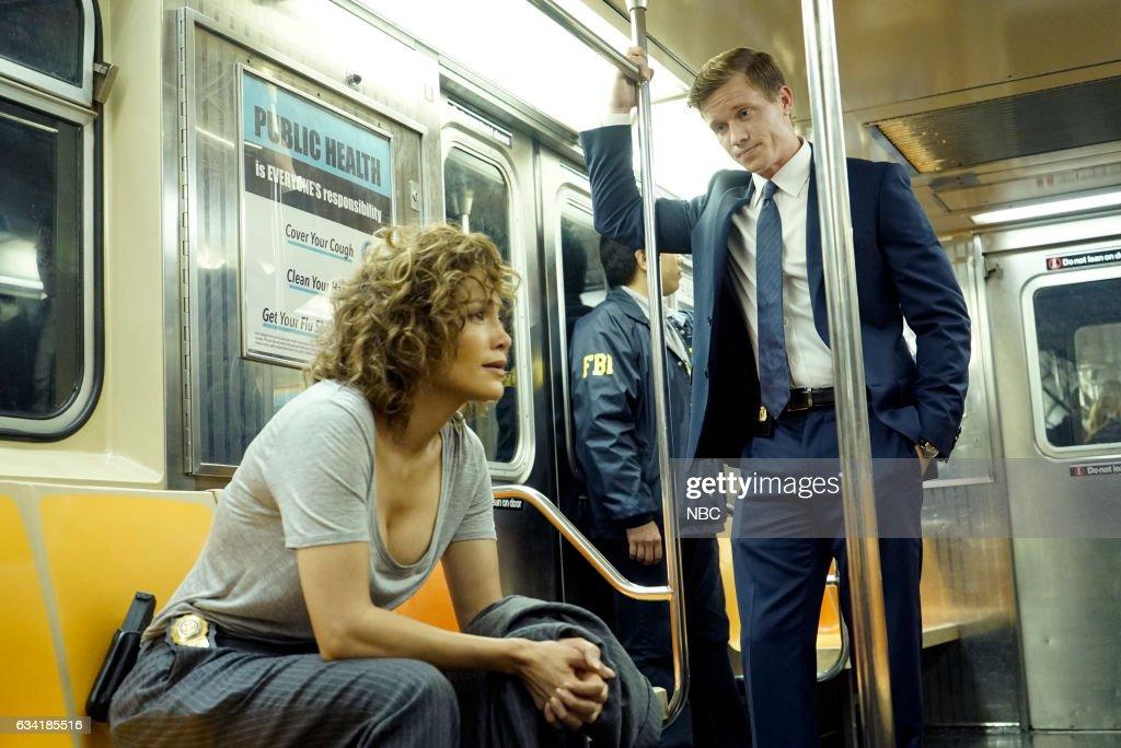 BLUE -- 'Undiscovered Country' Episode 107 -- Pictured: (l-r) Jennifer Lopez as Det. Harlee Santos, Warren Kole as Robert Stahl --
