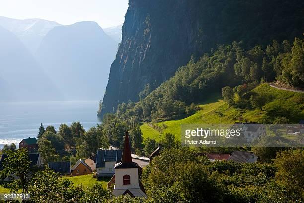 Undredal village at Aurlandsfjord, Norway