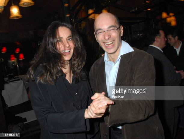 Une Copine and Bernard Werber during 2007 Literary Awards Ceremony Cocktail Party at Closerie des Lilas Restaurant at Closerie des Lilas Restaurant...
