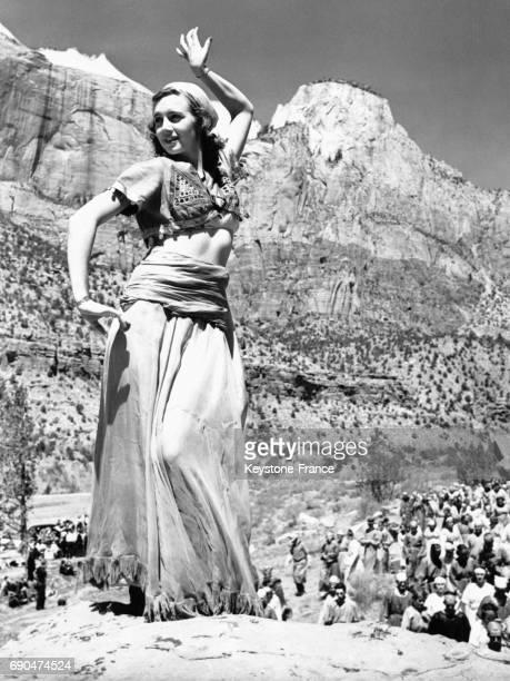 Une jeune femme incarne Salomé dans le spectacle du même nom présenté comme chaque année par les descendants des pionniers de l'Utah dans un cadre...