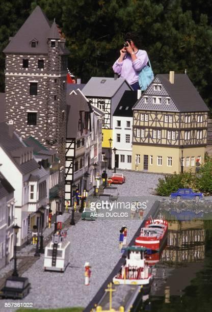 Une ville miniature en Lego au championnat du monde le 28 aout 1988 a Billund Danemark