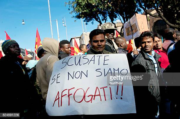 Unemployed migrant workers esodati the mall worker fire kiper students and workers of public administrations demonstrate in Rome on October 18 2013...