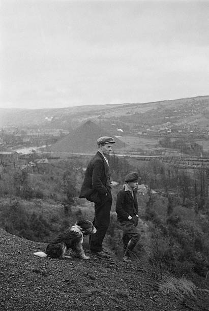 Welsh Miner And Son