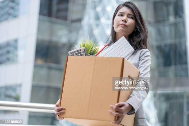 unemployment businesswoman - quitting a job stock pictures, royalty-free photos & images