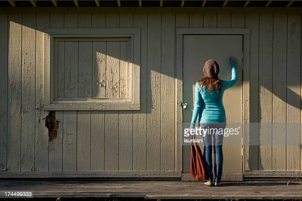 unemployment - knocking on door stock photos and pictures