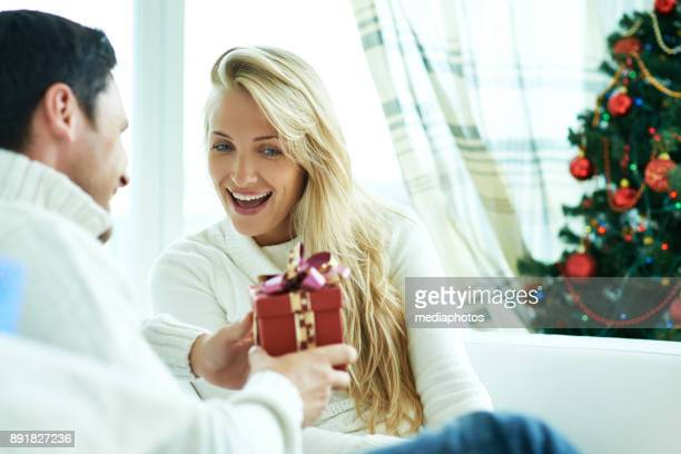 Unexpected Christmas gift for beloved woman