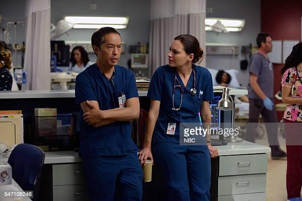 SHIFT 'Unexpected' Episode 309 Pictured Ken Leung as Dr Topher Zia Jill Flint as Dr Jordan Alexander