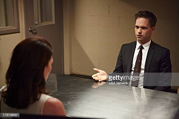 SUITS Unfinished Business Episode 303 Pictured Michelle Fairley as Ava Hessington Patrick J Adams as Mike Ross