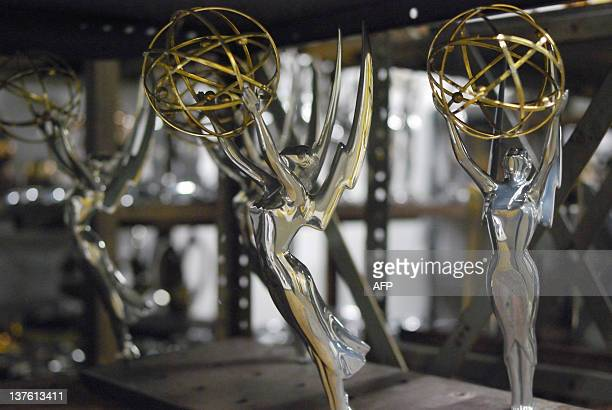 Unfinished Emmys sits on a shelf at RS Owens in Chicago Illinois which is the last trophy manufacturer in the United States on December 6 2011 Most...