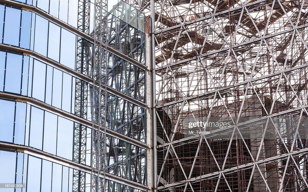 Inacabado Edifício de Vidro : Foto de stock