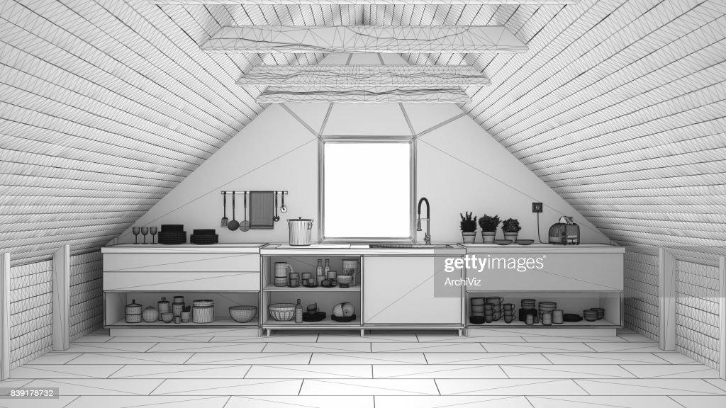Industriele Keuken Industrial : Onvoltooide project van scandinavië industriële keuken mezzanine
