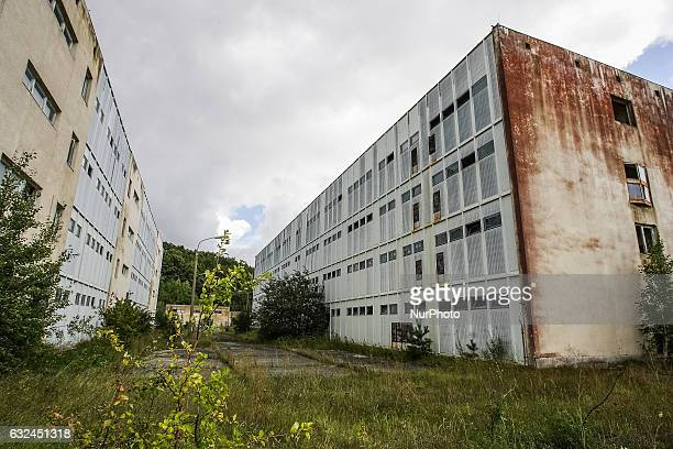 Unfinished remains of the Nuclear Power Plant are seen in Zarnowiec, Poland on 9th September 2011. The Zarnowiec Nuclear Power Plant was supposed to...
