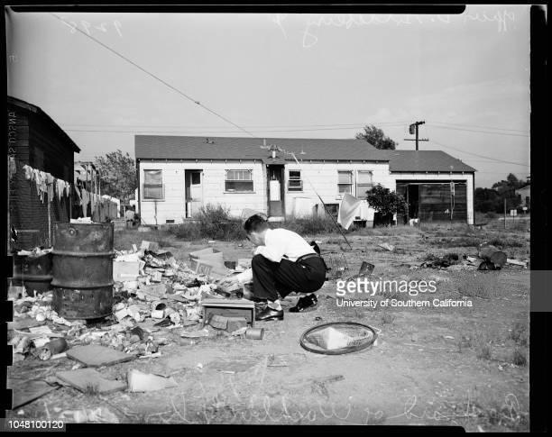 Unfit home for children 17 September 1951 Leona Washburn and Policewoman Harriet SchafferOfficer D GoldsberryChildren LeroyEva...