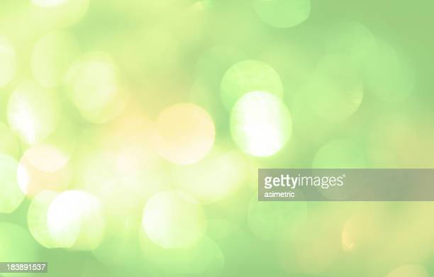 Unfocused picture of lights with a green tint