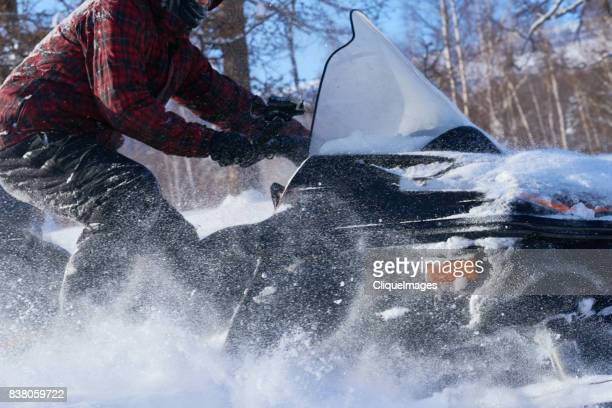 unforgettable experience of snowmobiling - cliqueimages stock pictures, royalty-free photos & images