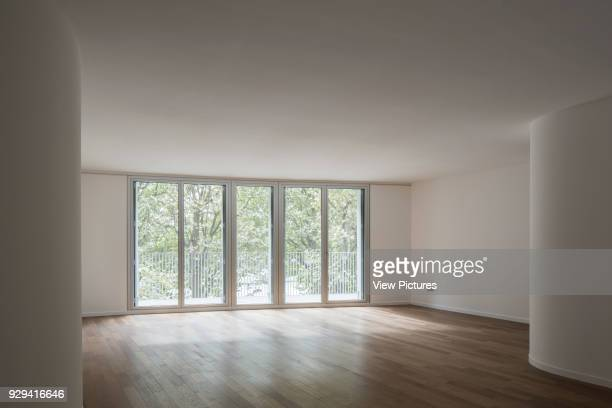 Unfurnished building interior with fenestration and balconies Housing Building Quai Henri IV Paris France Architect LIN 2015