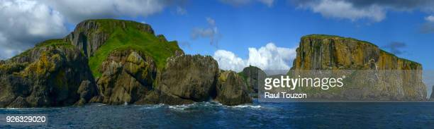 Panoramic view of cliffs of Unga Island.