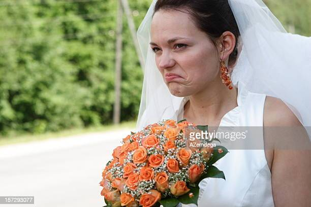 unhappy bride - anger stock pictures, royalty-free photos & images
