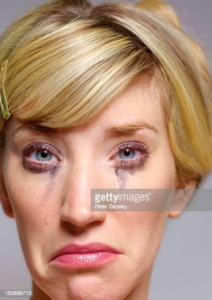 Unhappy girl crying