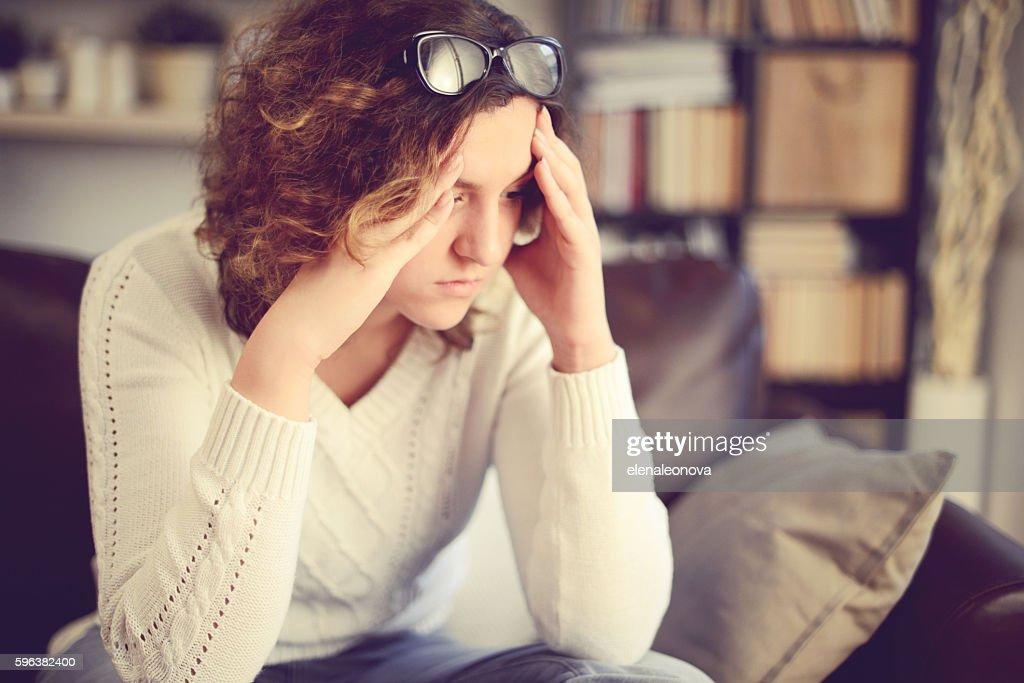 Unhappy girl : Stock Photo