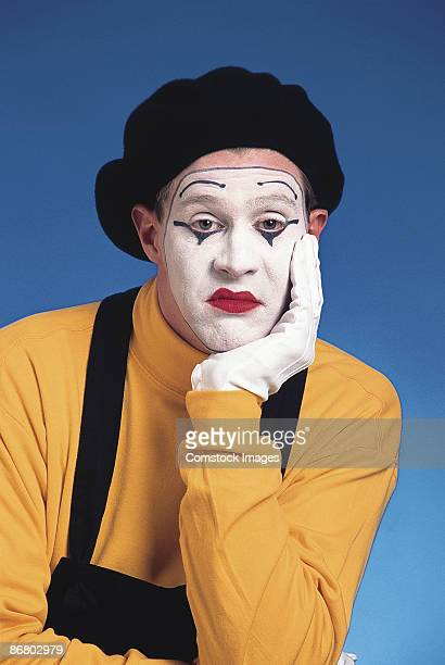 unhappy mime - mime stock photos and pictures