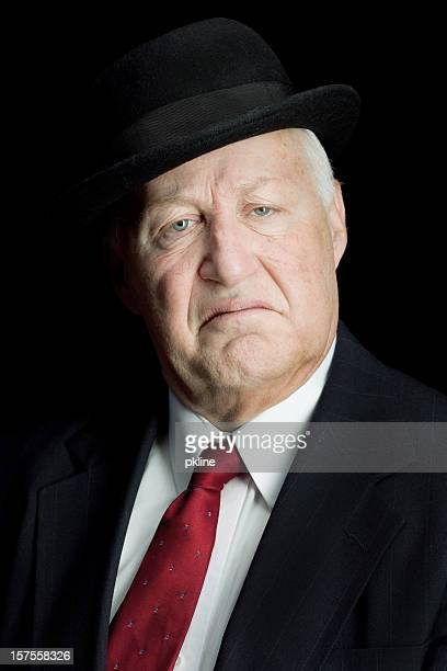 Unhappy rich old man