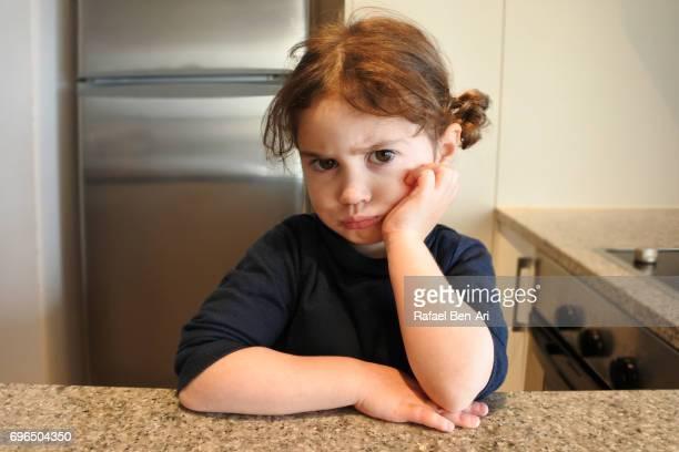 Unhappy small girl