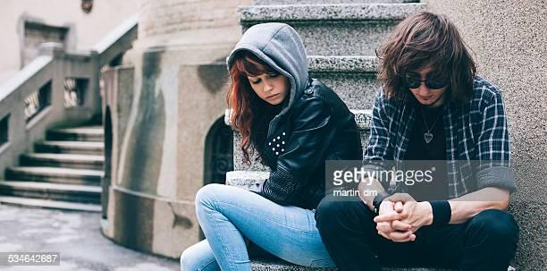 Malheureux couple d'adolescents