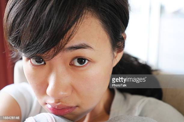 unhappy woman - xlarge - beautiful japanese girls stock photos and pictures