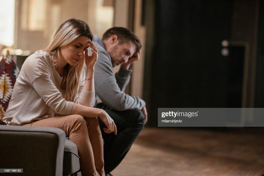 Unhappy young couple : Stock Photo
