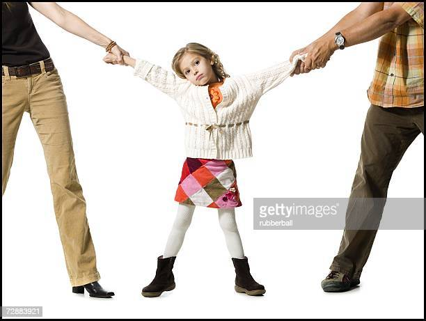 unhappy young girl in custody battle - divorce kids stock pictures, royalty-free photos & images