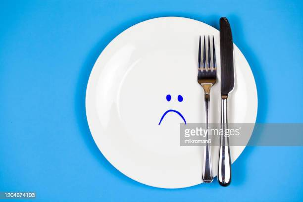 unhealthy and processed foods symbol - anorexia nervosa stock pictures, royalty-free photos & images