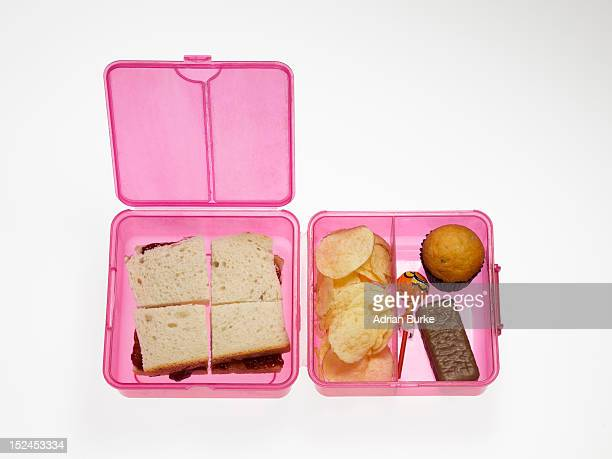 Unhealthy child's lunchbox.