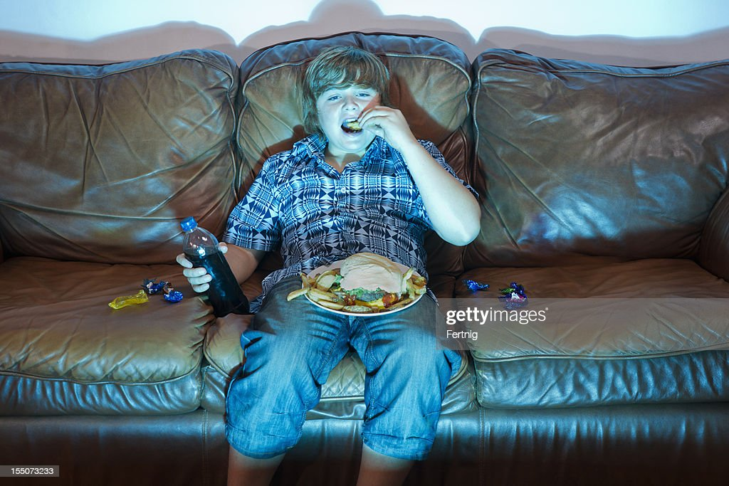Unhealthy eating : Stock Photo