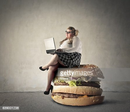 Unhealthy Lifestyle Stock Photo