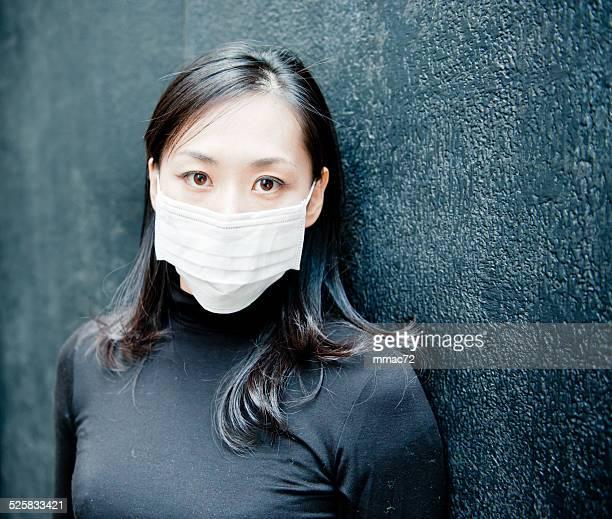 Unhealty asiatische Frau
