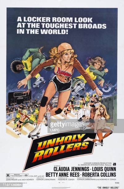 Unholy Rollers poster US poster art Claudia Jennings 1972
