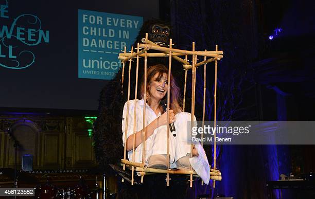 Unicef UK Ambassador Jemima Khan speaks at the Unicef UK Halloween Ball raising vital funds to help protect Syria's children from danger at One...