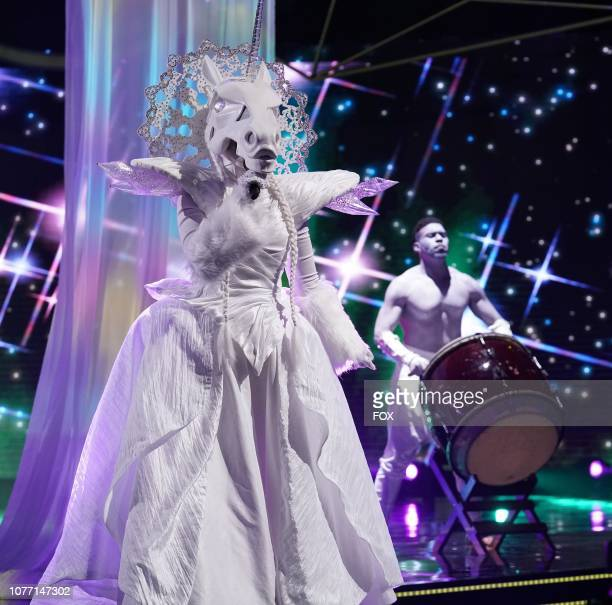 Unicorn in the Mask On Face Off series premiere of THE MASKED SINGER airing Wednesday Jan 2 on FOX