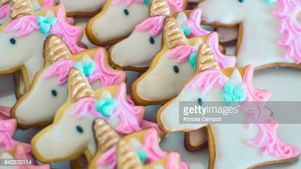 Unicorn Shaped Cookies