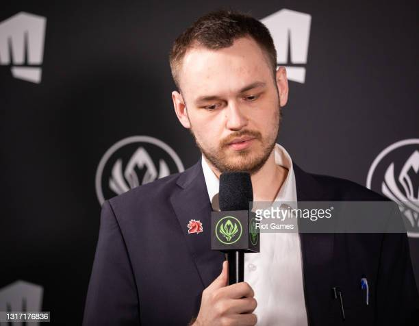 """Unicorns Of Love's coach, Dmitrii """"Invi"""" Protasov, at the 2021 MSI annual League of Legends tournament on May 9, 2021 in Reykjavik, Iceland."""