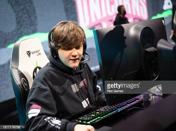 """Unicorns Of Love's Vladislav """"BOSS"""" Fomin at the 2021 MSI annual League of Legends tournament on May 9, 2021 in Reykjavik, Iceland."""