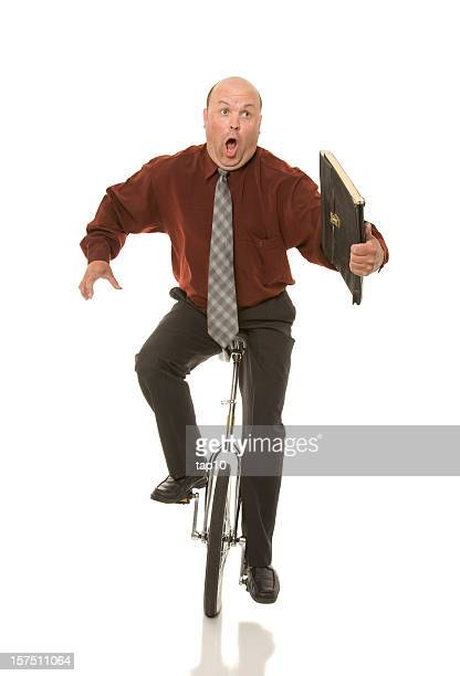Unicycle Business Man