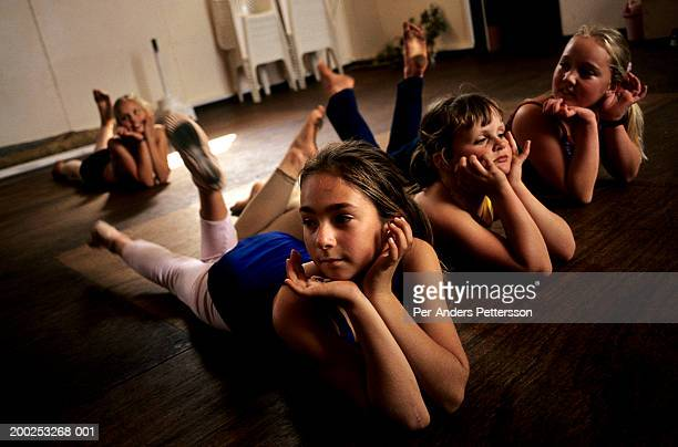 Unidentified ballet students train in a hall on September 24, 2002 in Orania, in the Northern Cape Province, South Africa. The village was founded in...